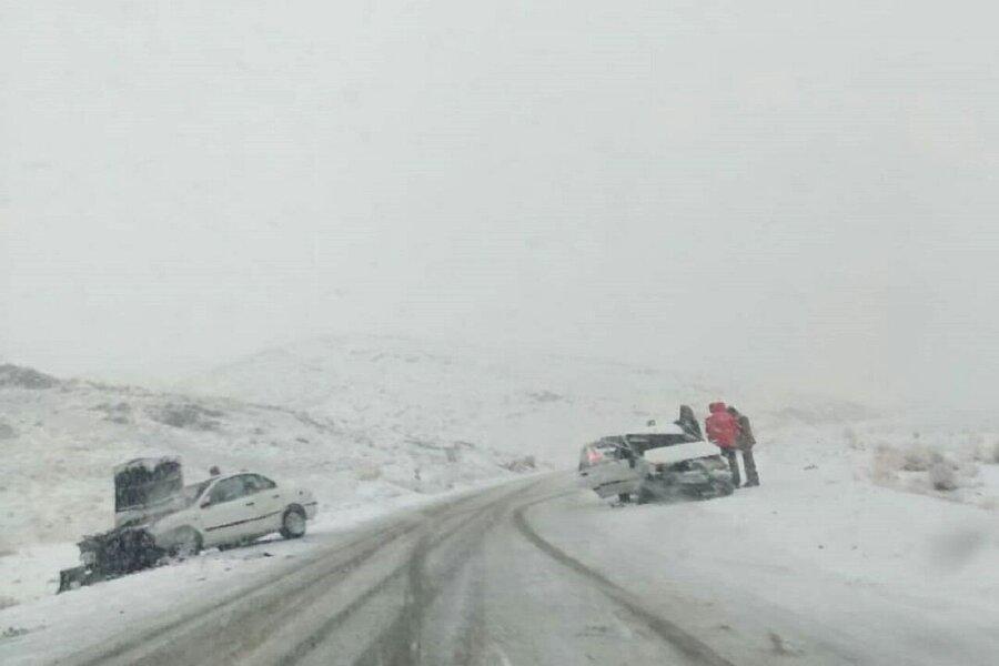 لغزندگی جاده های همدان منجر به 80 فقره سوانح رانندگی شد